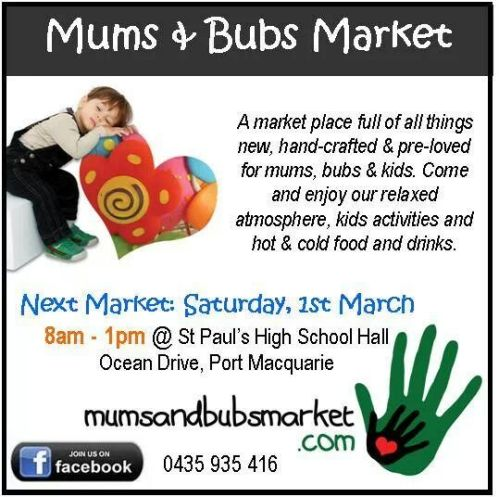 Mums and bubs market Port Macquarie